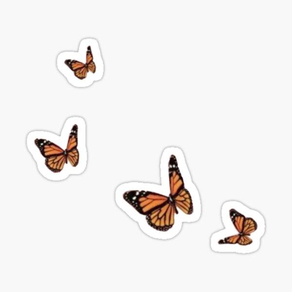 Monarch Butterfly Glossy Sticker