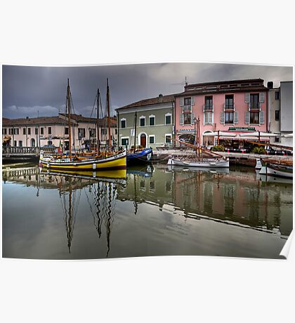 Cesenatico Harbour Poster