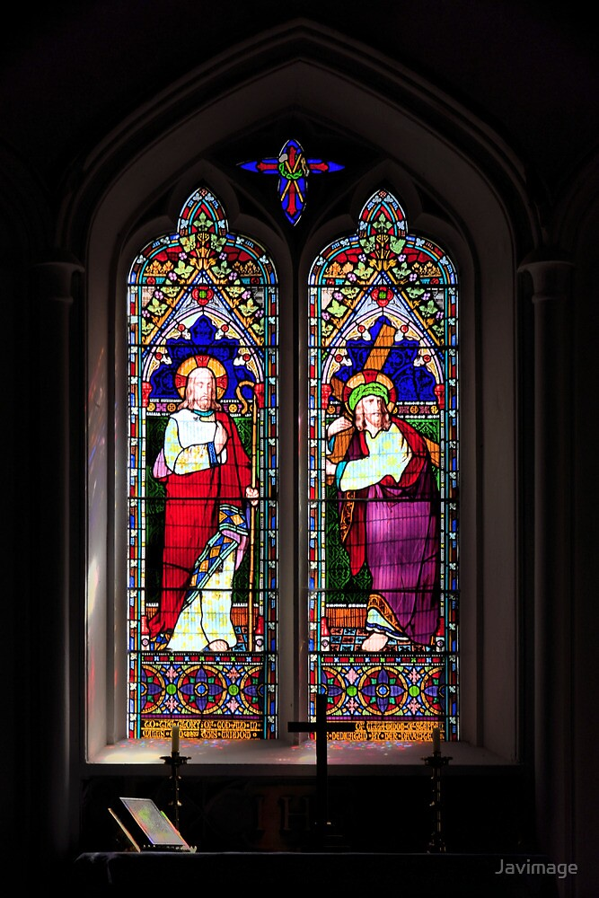 Stained glass at Orcheston St Mary by Javimage