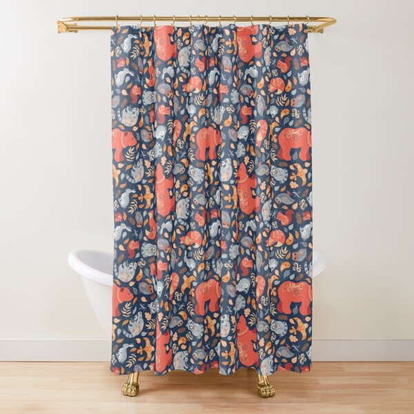 Fairy-tale forest. Scandinavian design.  Shower Curtain