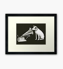 his masters voice Framed Print