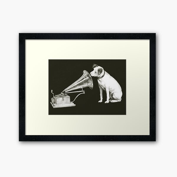 his masters voice Framed Art Print