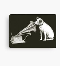 his masters voice Canvas Print