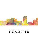 Honolulu, Hawaii Skyline WB1 von Marlene Watson
