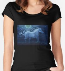 Harvest Moon White Horse Women's Fitted Scoop T-Shirt