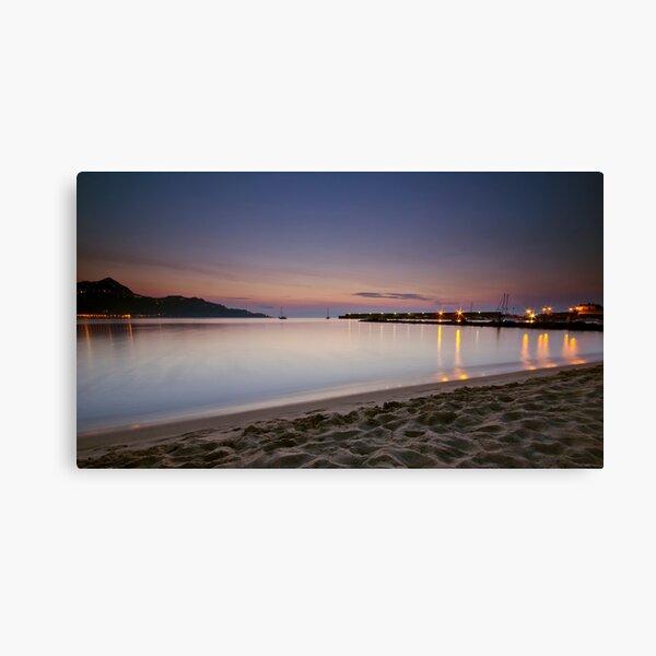 Luci del porto all'alba Canvas Print