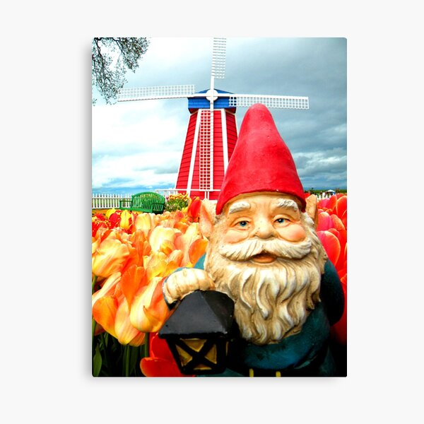 Windmill Gnome Canvas Print