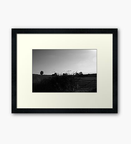 Racing The Clouds Home Framed Print