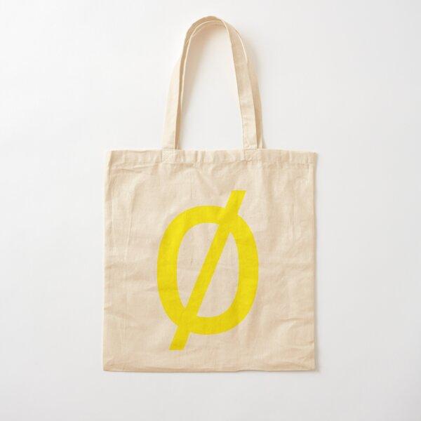 """Empty Set - Unicode Character """"∅"""" (U+2205) Yellow Cotton Tote Bag"""