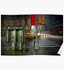Rainy evening in Manhattan Poster
