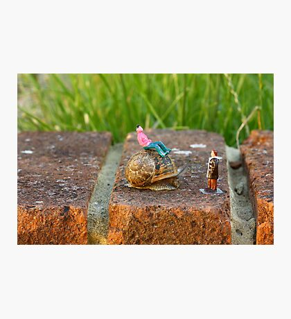 Hitchin a ride, snails pace  Photographic Print