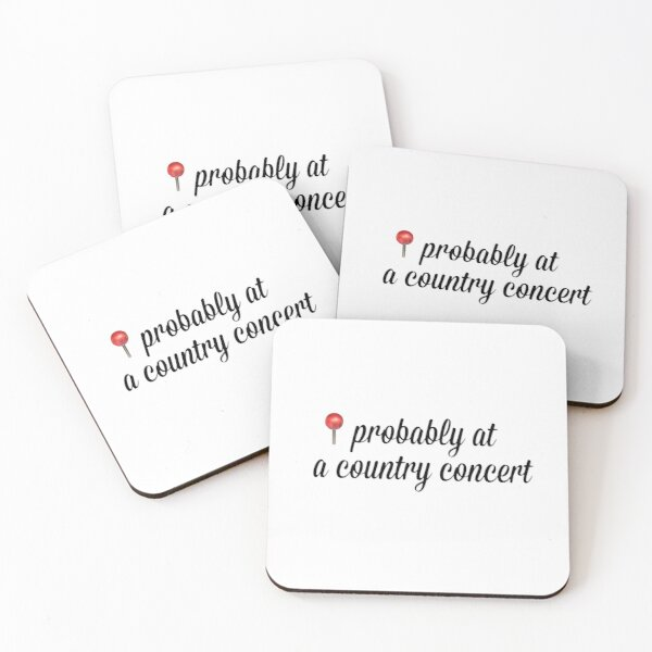 Country concert sticker Coasters (Set of 4)