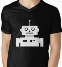 Retro Robot Shape Wht Men's V-Neck T-Shirt