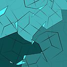 Teal & Blue 3D Boxes by Samm Poirier
