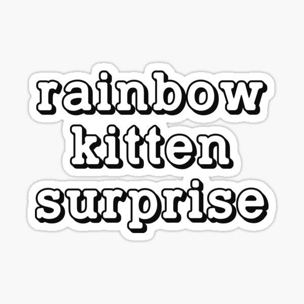 Rainbow Kitten Surprise Sticker