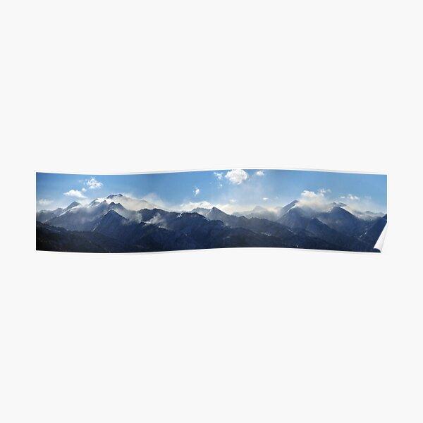 Panorama of Windblown Snow-Wasatch Range Poster