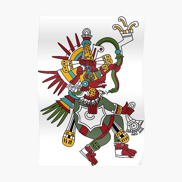 #Quetzalcoatl #featheredserpent #worship #Feathered Serpent Teotihuacan century Mesoamerican chronology veneration figure Mesoamerica Mexican religious center Cholula Maya area Kukulkan Poster
