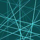 Light Blue Wires on Dark Teal Background by Samm Poirier