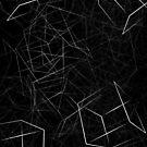 3D white Boxes on Black Background by Samm Poirier