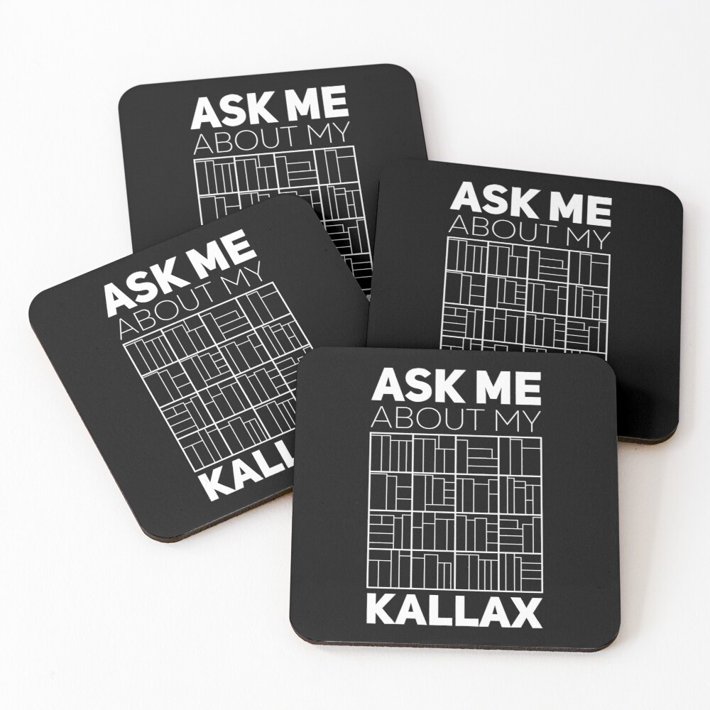 Ask Me About My Kallax Coasters (Set of 4)