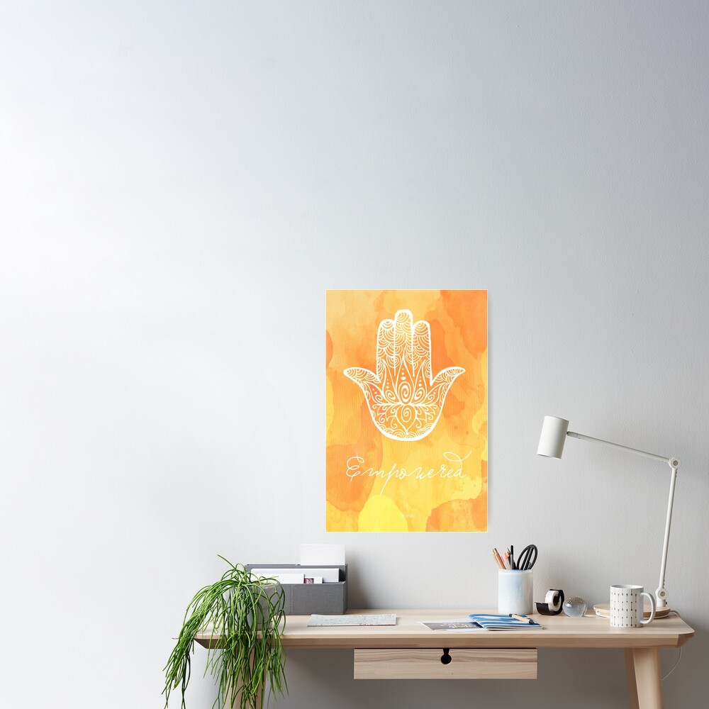 Solar Plexus Chakra - Empowered Poster