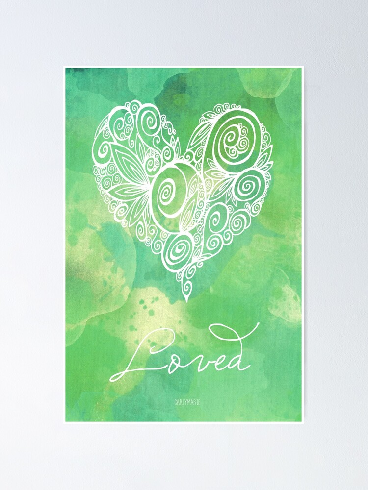 Alternate view of Heart Chakra - Loved Poster