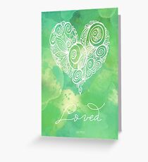 Heart Chakra - Loved Greeting Card