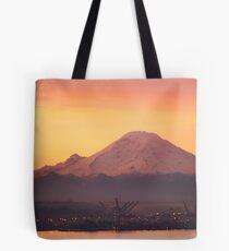 Mt. Rainier at Sunrise Tote Bag