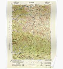 USGS Topo Map Oregon Ginger Peak 282521 1942 62500 Poster