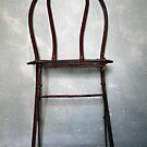 vintage red chair by keki