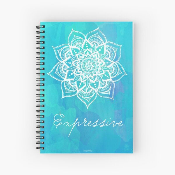 Throat Chakra - Expressive Spiral Notebook