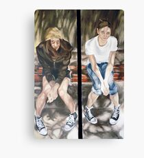 On the Bench: Silke and Justina Canvas Print