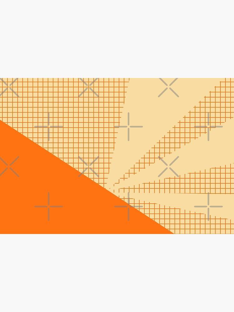 Geometric orange grid collage by by-jwp