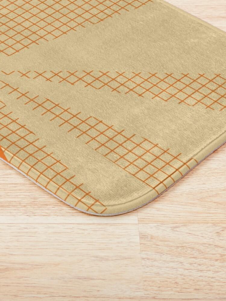 Alternate view of Geometric orange grid collage Bath Mat