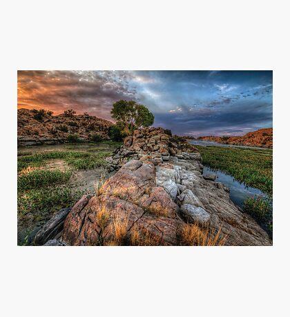 Rock Wall Split Photographic Print