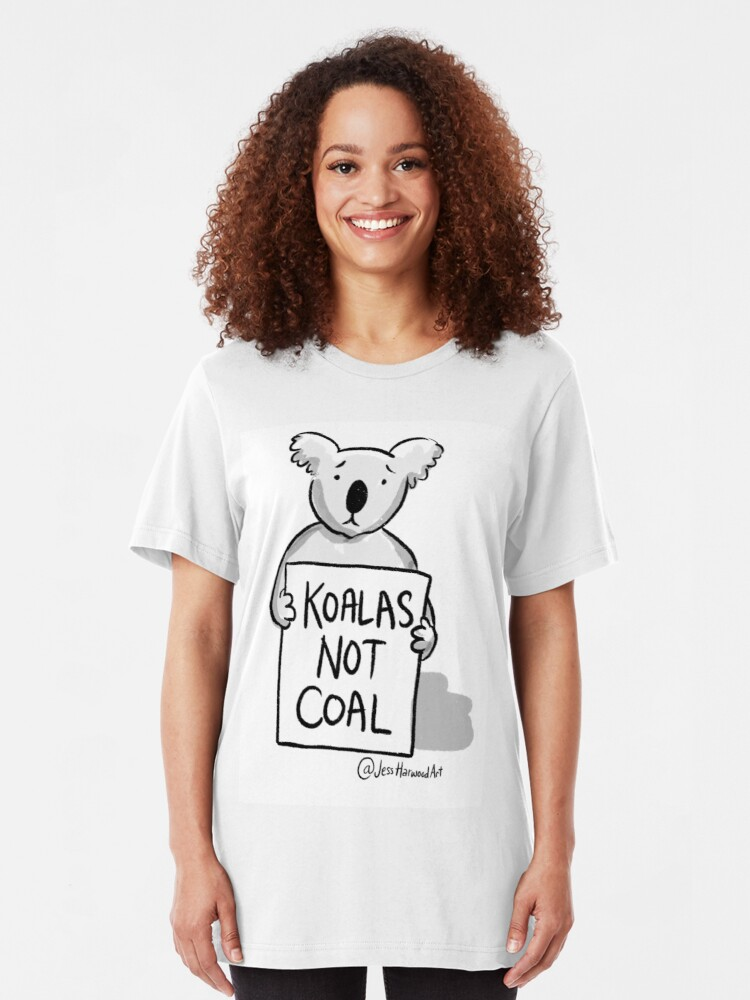 Alternate view of Koalas Not Coal by Jess Harwood Art  Slim Fit T-Shirt