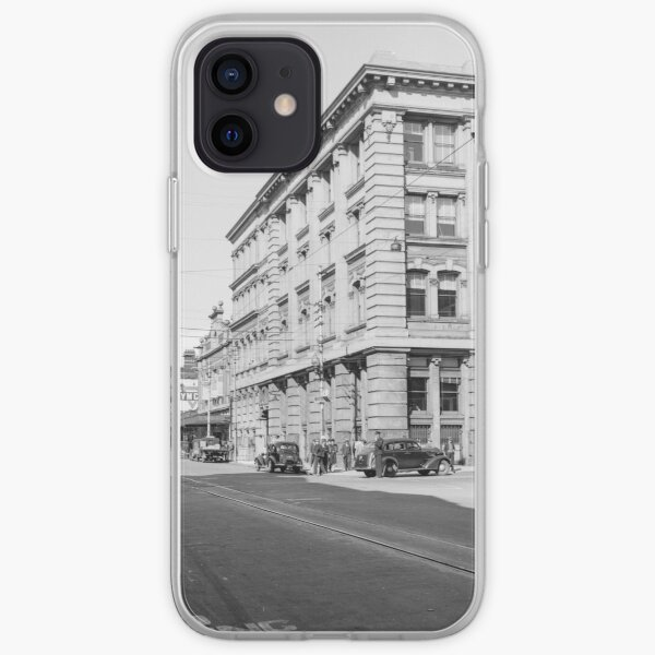 Murray Street west from Forrest Place, Perth, 1941, State Library of Western Australia iPhone Soft Case