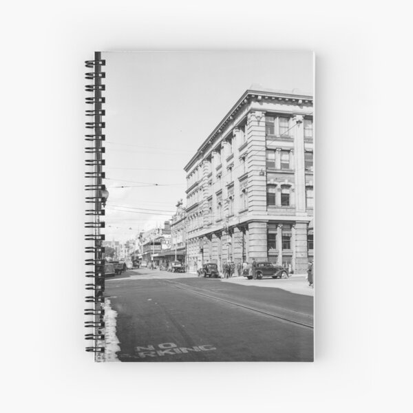 Murray Street west from Forrest Place, Perth, 1941, State Library of Western Australia Spiral Notebook