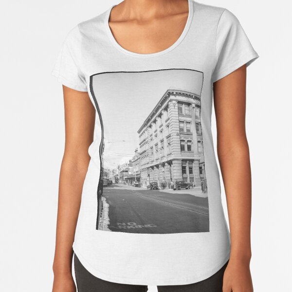 Murray Street west from Forrest Place, Perth, 1941, State Library of Western Australia Premium Scoop T-Shirt