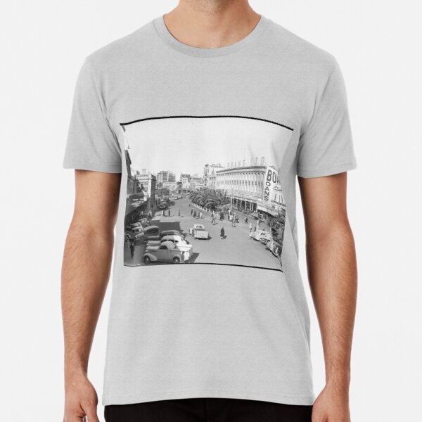Wellington Street, Perth east from the Railway Station, 1941, State Library of Western Australia Premium T-Shirt