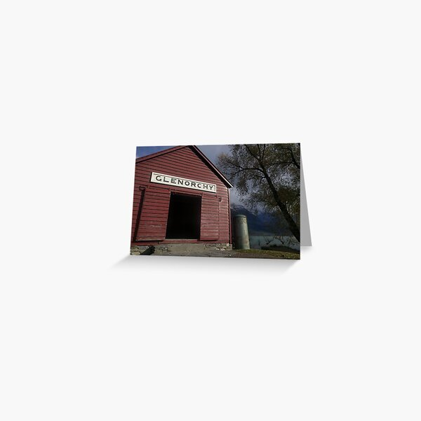 The Red Boat Shed in Glenorchy Greeting Card