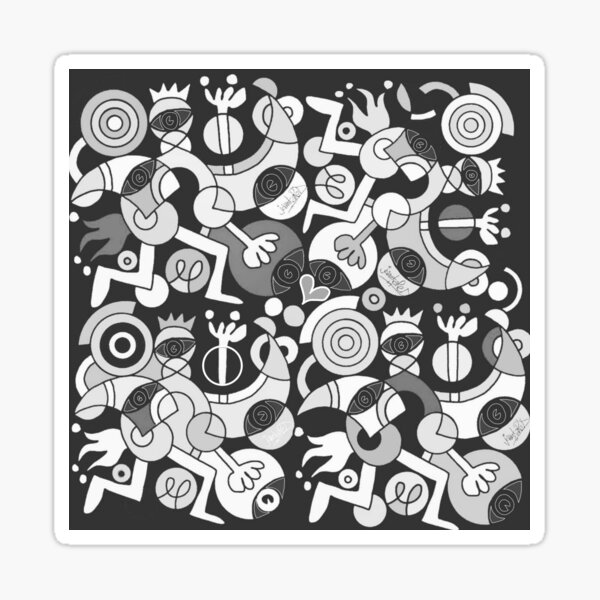 MoRECOLouRsOFhoPEin50shADesOfGReY Sticker