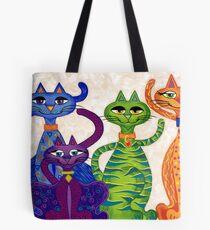 'High Street Cats' - a little bit Posh! (larger version) Tote Bag