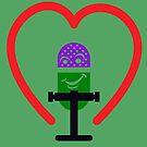 Smiling Microphone Heart by a-roderick