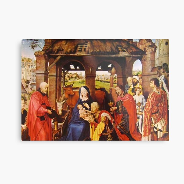 Flemish Painting And Oil Colors Rogier Van Der Weyden. Pittura Fiamminga E I Colori A Olio Rogier Van Der Weyden Metal Print