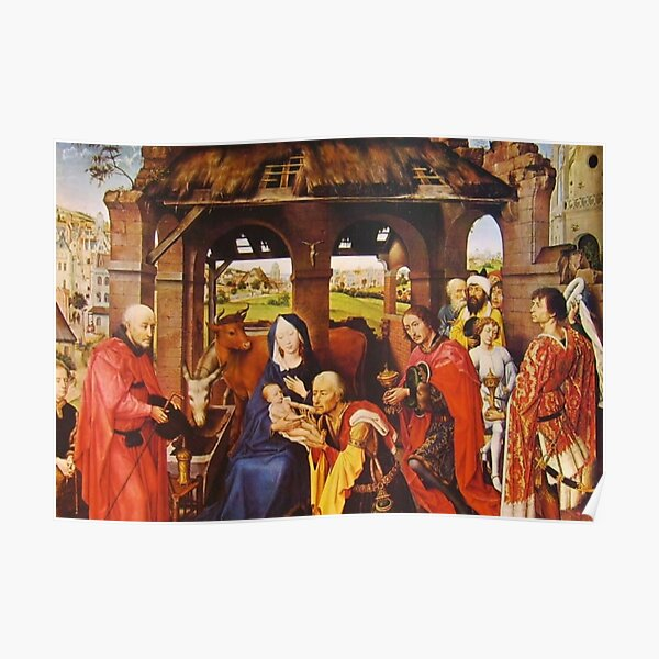 Flemish Painting And Oil Colors Rogier Van Der Weyden. Pittura Fiamminga E I Colori A Olio Rogier Van Der Weyden Poster