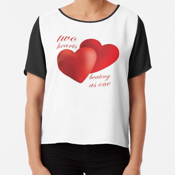 Two Hearts Beating as One Chiffon Top