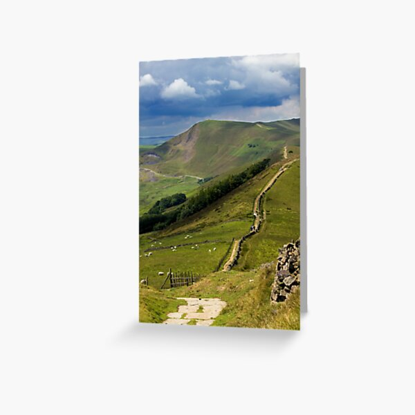 The Great Ridge, Hope Valley, Derbyshire. Greeting Card