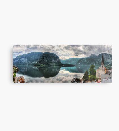Hallstatter Lake, Austria - HDR Panorama Metal Print