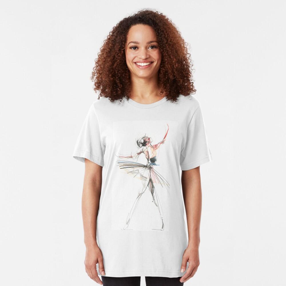 Expressive Dancer Dance Drawing Slim Fit T-Shirt
